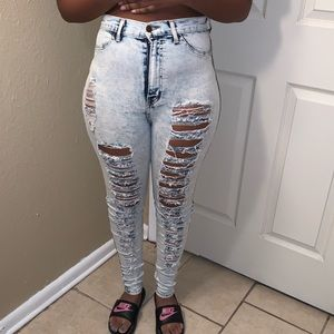 🌵2 for $15🌵 Skinny High Waisted Ripped Jeans